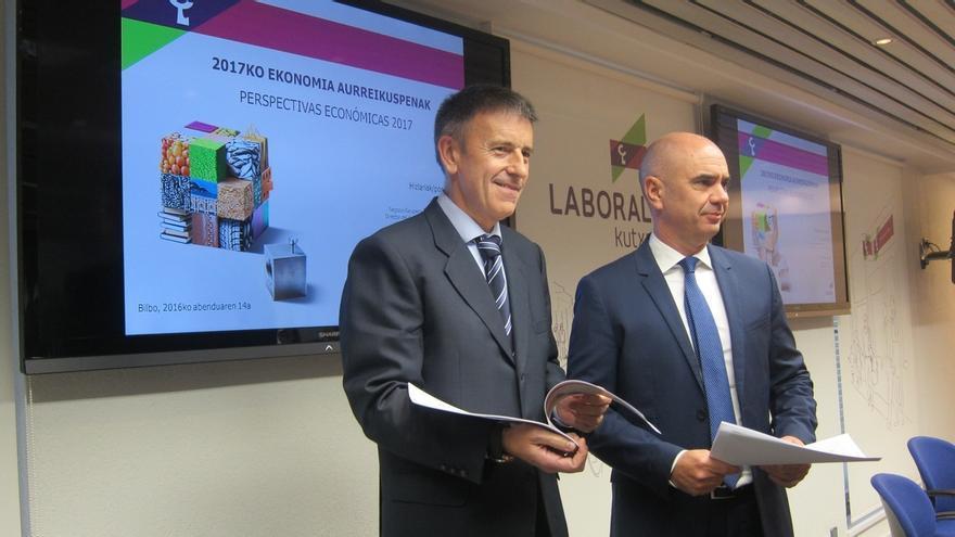 Laboral Kutxa prevé que la economía vasca crezca un 2,3% en 2017 y que la tasa de desempleo se sitúe en el 11%