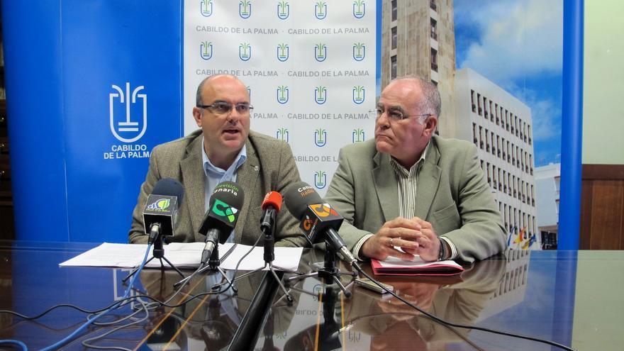 Anselmo Pestana y Carlos Cabrera, este  jueves.