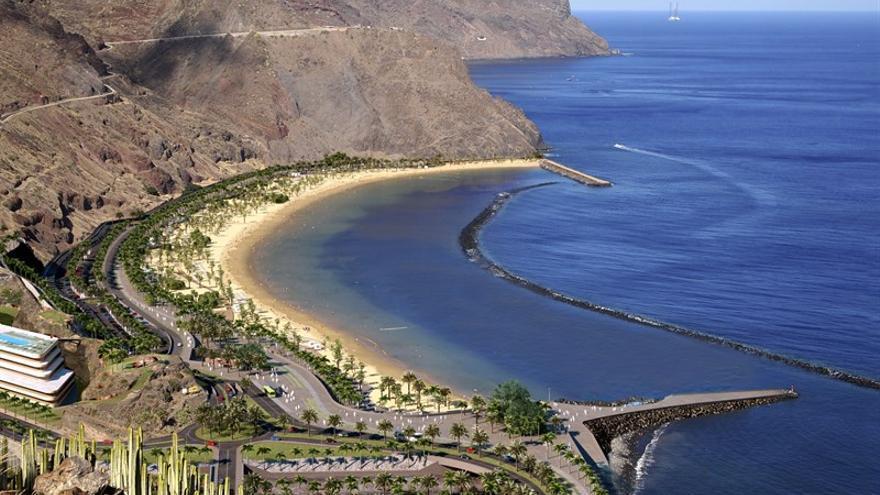 Imagen de la futura playa de Las Teresitas según el Plan Especial del Ayuntamiento