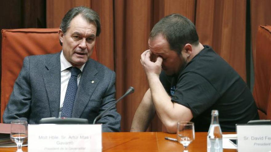 David Fernández se muestra insatisfecho por la comparecencia de Artur Mas