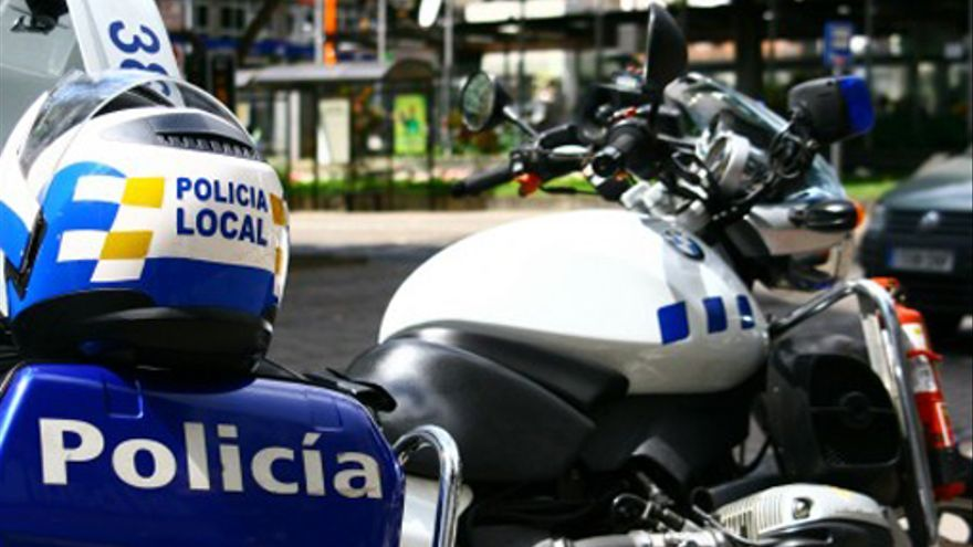 Moto de la Policía Local de Santa Cruz de Tenerife
