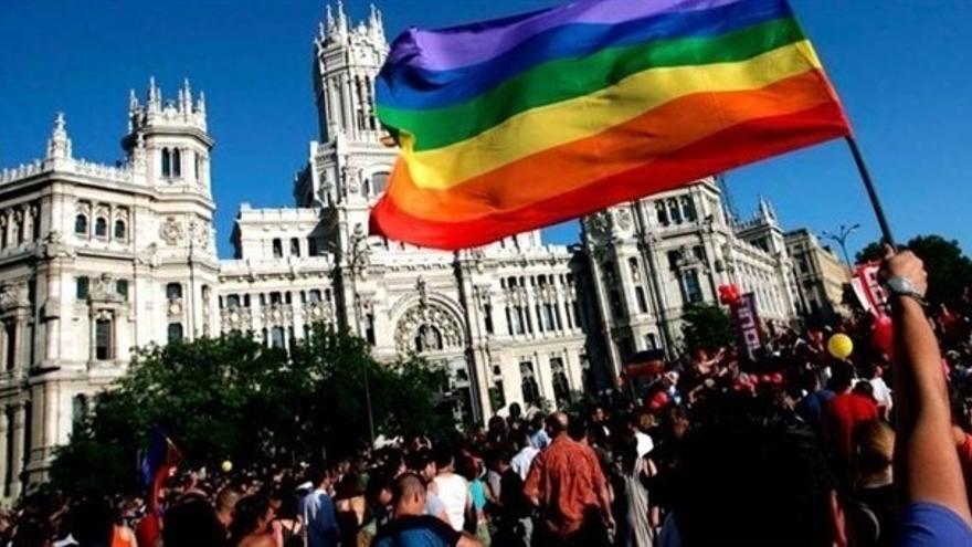 La marcha del Orgullo en Madrid el 6 de julio de 2018