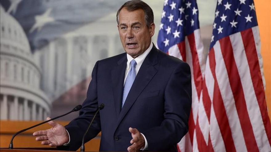 El líder republicano del Congreso de EE.UU., John Boehner, confirma su renuncia