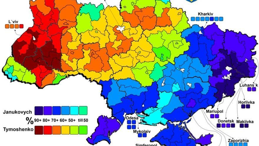 Resultados por región en las elecciones presidenciales de 2010.