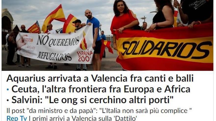 Portada digital de la Repubblica