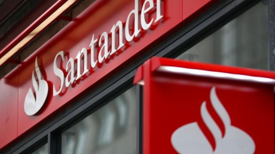 Una sucursal del Banco de Santander.