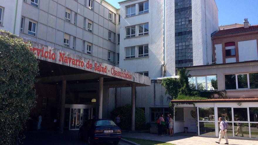 Uno de los accesos al Hospital de Navarra.