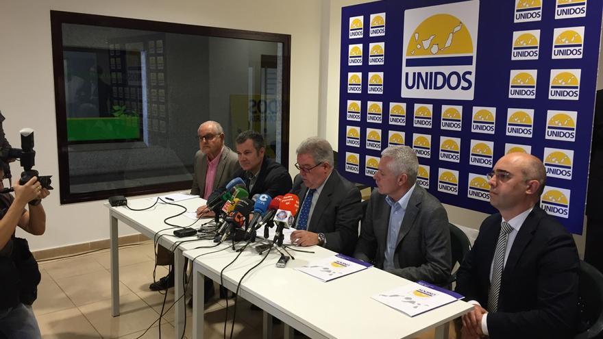 Presentación de Unidos por Canarias.