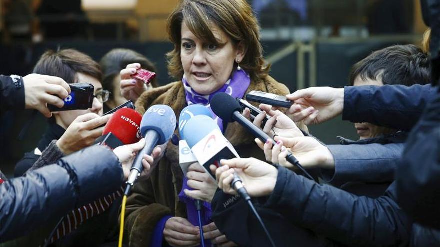 La presidenta de Navarra, Yolanda Barcina, única integrante de la comisión permanente de Caja Navarra que no ha sido imputada