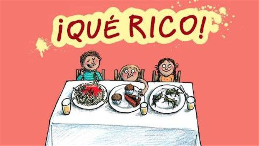 La portada del libro ¡Qué rico!, de Anke Kuhl y Alezandra Maxeiner