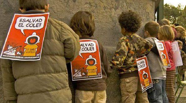 Una de las concentraciones de protesta de Salvad el Cole