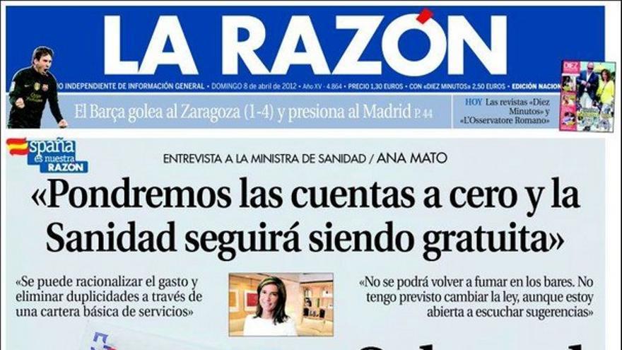 De las portadas del día (08/04/2012) #9