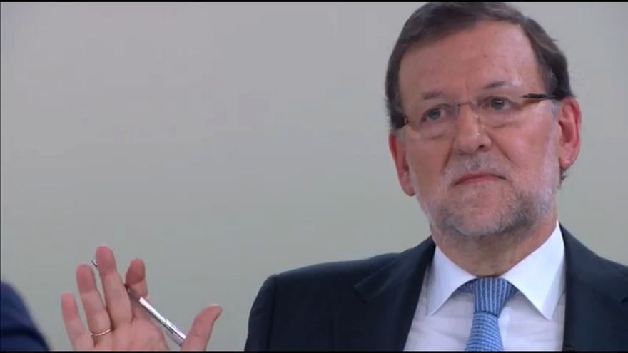 Rajoy, cuando Sánchez le ha acusado de no ser una persona decente.