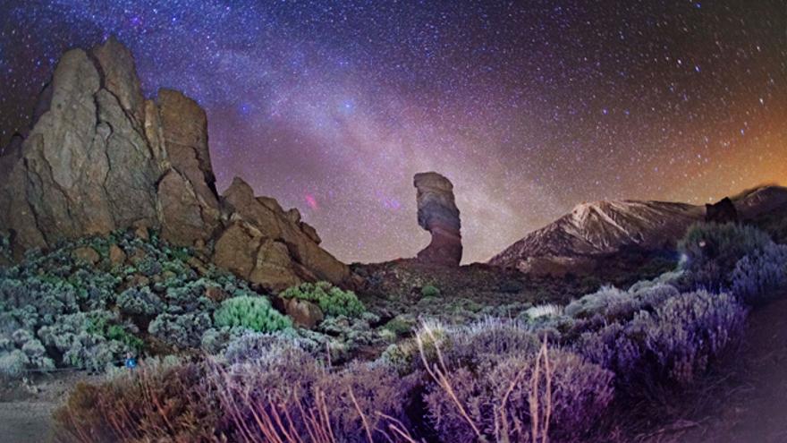 Cielo estrellado desde el Parque Nacional del Teide.