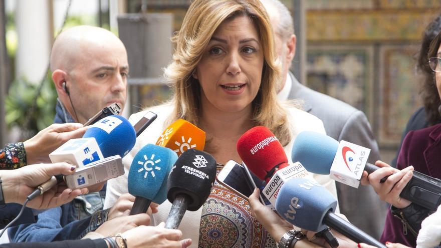 """Díaz critica que Rajoy tenga tiempo para venir a Andalucía a """"arañar votos"""" y no para recibir a alcaldes por la PAC"""