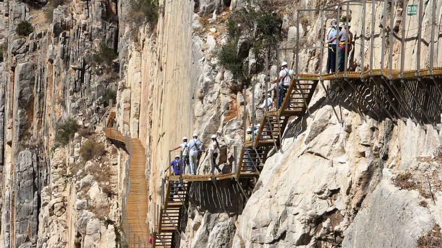 El acceso al Caminito del Rey será gratuito durante los tres primeros meses tras su inauguración