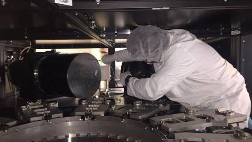 Megara, el nuevo instrumento de espectroscopía 3D del Gran Telescopio Canarias, ha sido ha diseñado y construido por la Universidad Complutense en colaboración con otras instituciones españolas y mexicanas. Foto cedida a Europa Press Universidad Complutense.