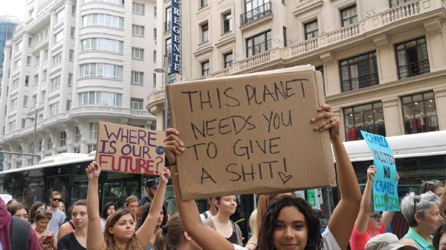 Manifestaciones en Madrid contra el cambio climático