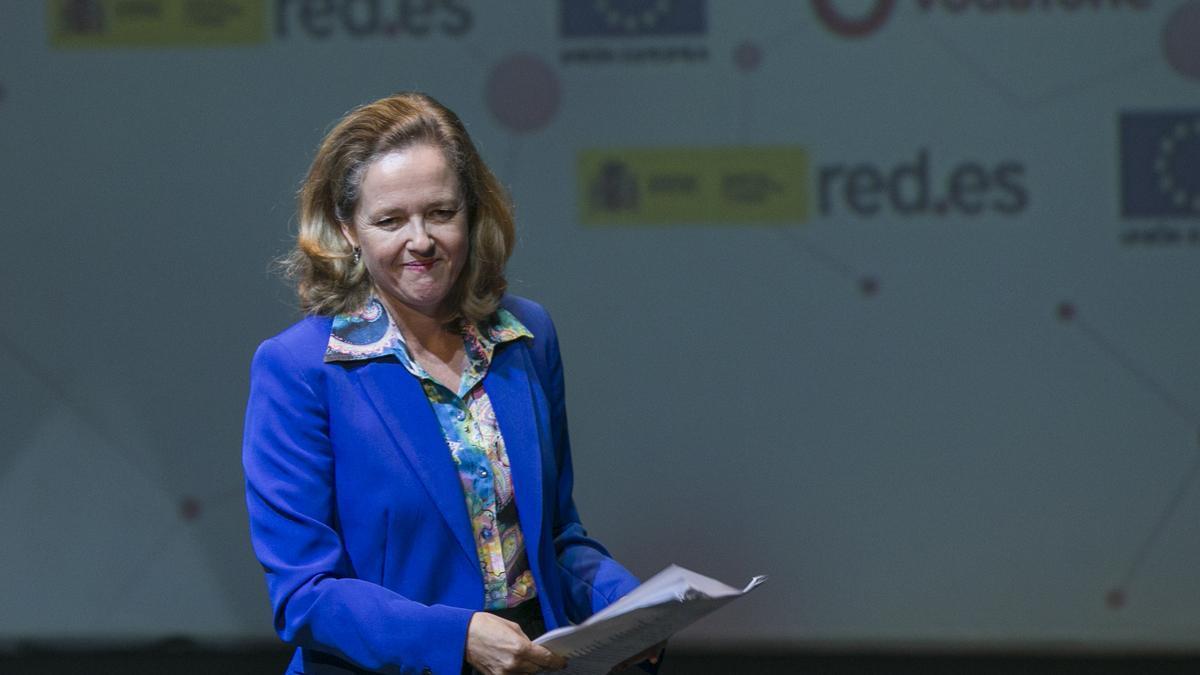 La ministra de Asuntos Económicos y Transformación Digital, Nadia Calviño.