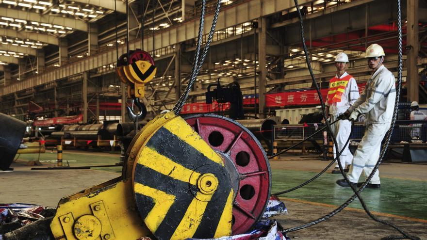La industria manufacturera china continúa ralentizándose en julio