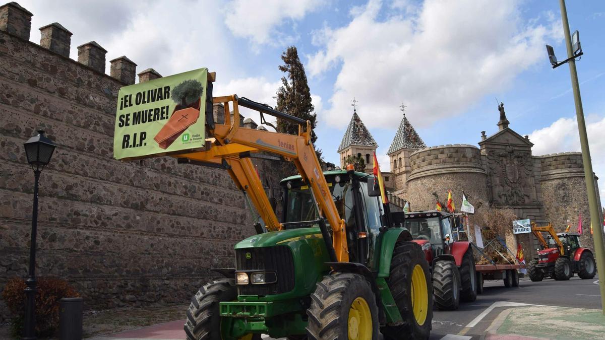 Tractorada en Toledo