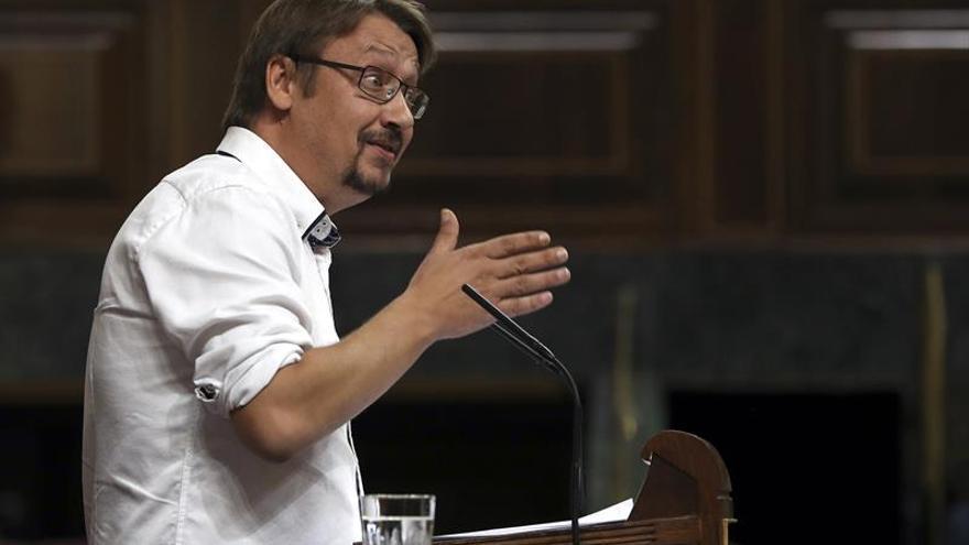 """Domènech llama a movilizarse: """"El 1-O, Cataluña dirá a Rajoy que debe irse"""""""