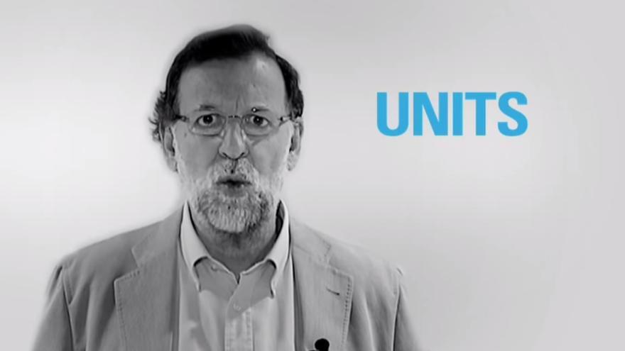 Mariano Rajoy en un vídeo de campaña del Partido Popular