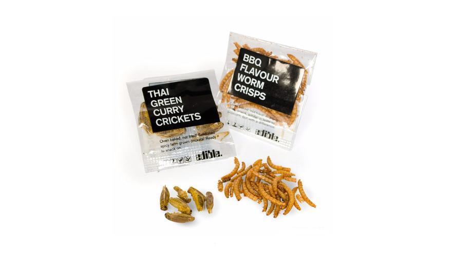 Grillos al curry verde y gusanos crujientes sabor barbacoa: esta es una de las imágenes usadas en la investigación.