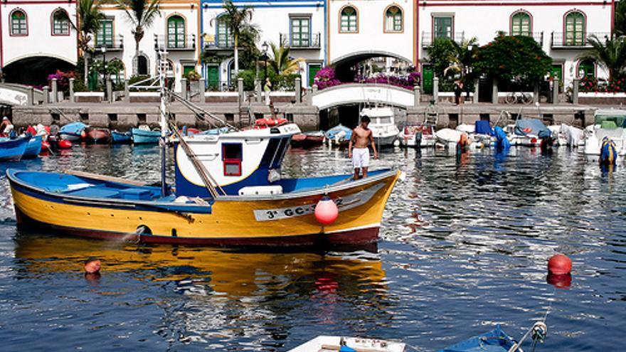 Imagen de un barco pesquero de la Cofradía de Mogán, en la isla de Gran Canaria.