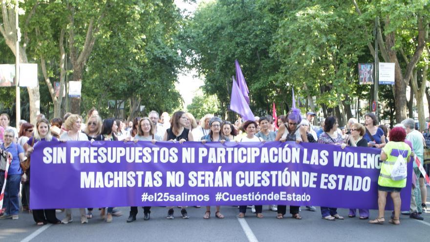 Manifestación en Madrid para exigir más fondos contra la violencia machista / MB