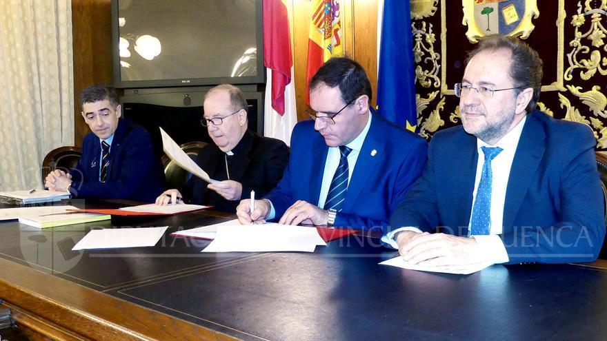 Firma convenio Obispado y Diputación de Cuenca