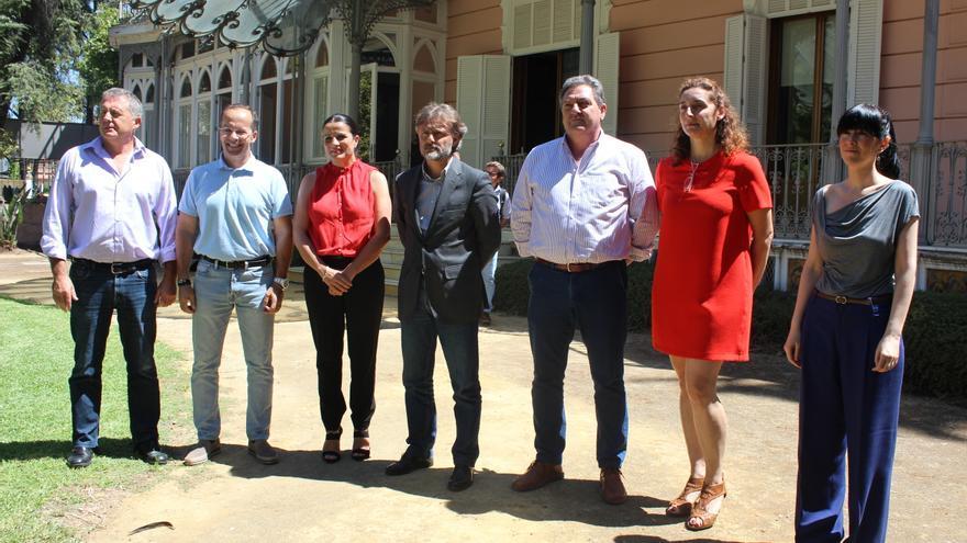 Fiscal junto a los alcaldes de municipios afectados por el incendio de Doñana