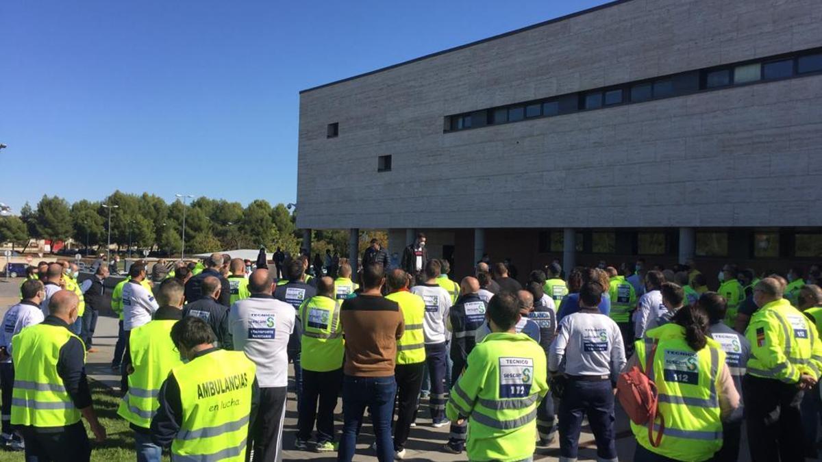 Trabajadores del Transporte Sanitario en Ciudad Real