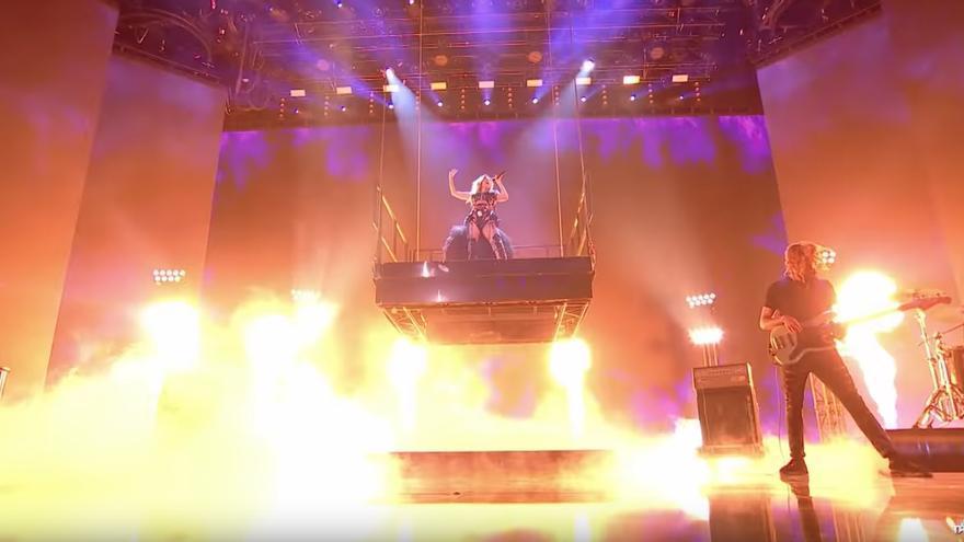Cristina Ramos, en su actuación en el Britain's Got Talent The Champions