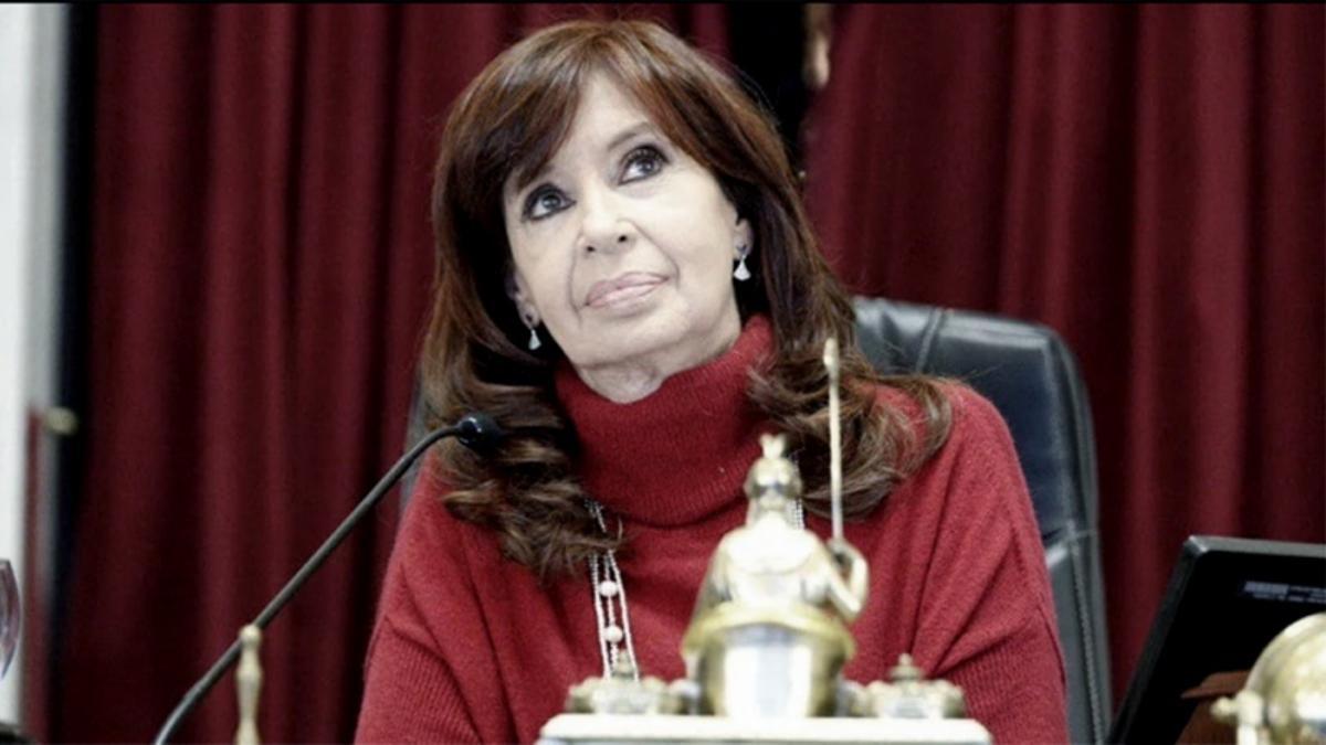 Cristina en el Senado, en 2020.