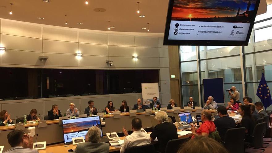Imagen de la sesión en la semana de Energía Sostenible EUSEW en Bruselas.