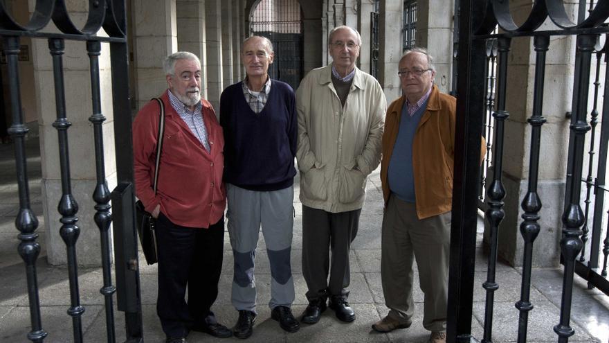 Juan Mari Zulaika, Josu Naberan, Patxi Bilbao y Eugenio Calzada