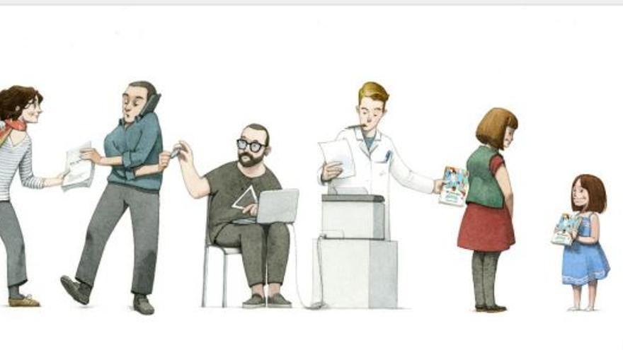 Ilustración de la Fundación Bromera para el fomento de la lectura