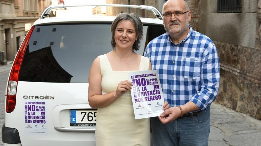 Los taxis se suman a la campaña contra la violencia de género