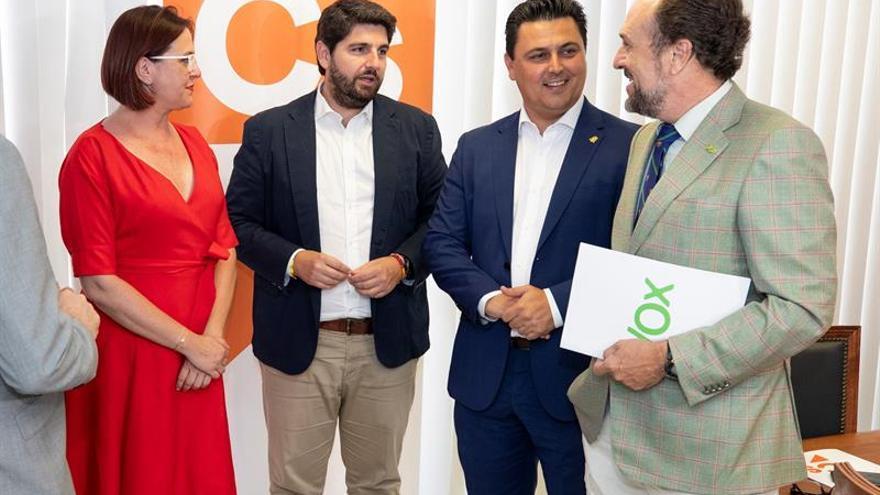 Vox renunciará a cualquier cargo para facilitar el gobierno en Murcia