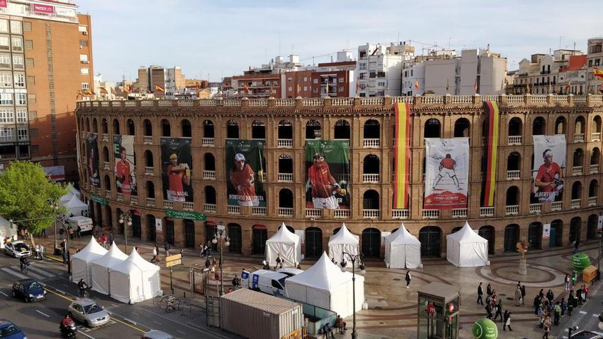 La Plaza de Toros de València en plena competición de la Copa Davis