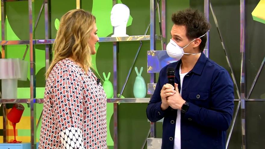 Christian Gálvez y Carlota Corredera en 'Sálvame'