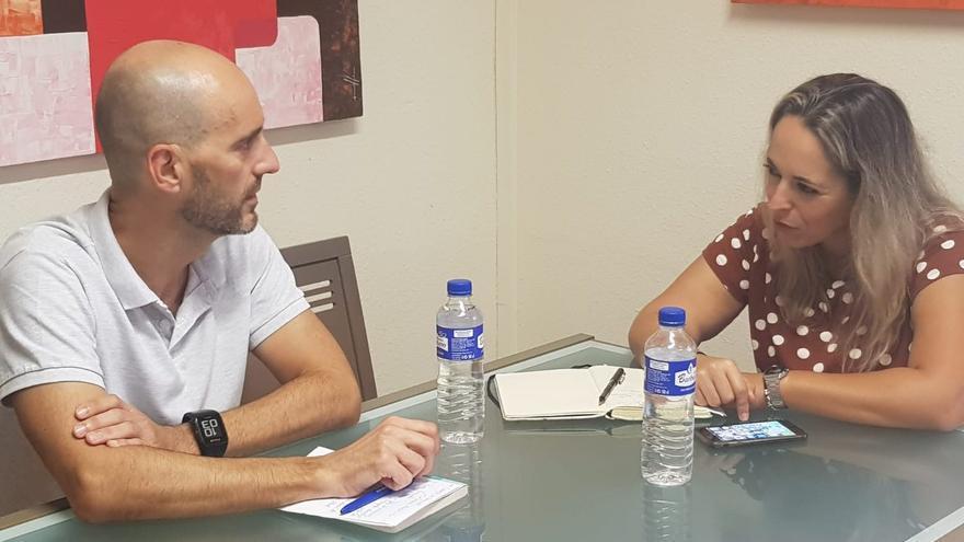 Reunión de Susana Machín con Óscar Valdivieso.