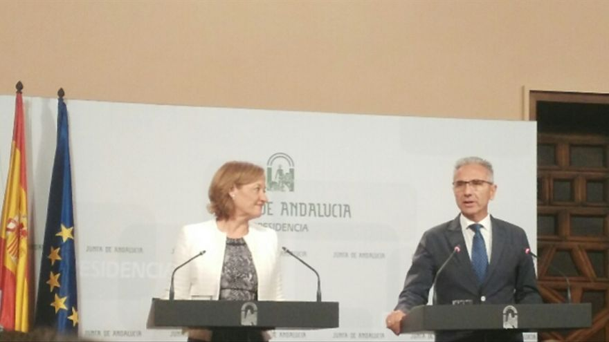 Carmen Ortiz y Miguel Ángel Vázquez.