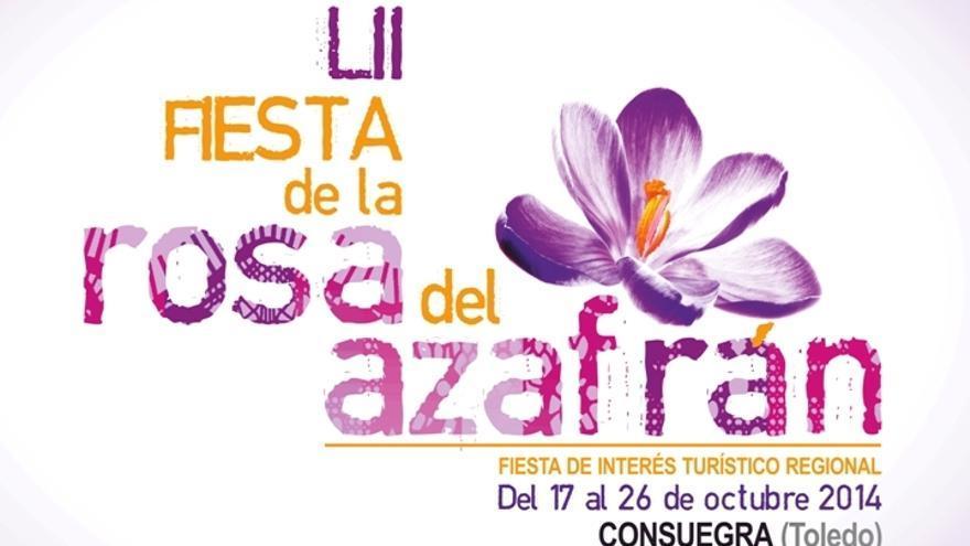 Cartel Fiesta de la Rosa del Azafrán, Consuegra (Toledo), Octubre '14