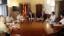 El president Puig junto al conseller de Educación, Vicent Marzà