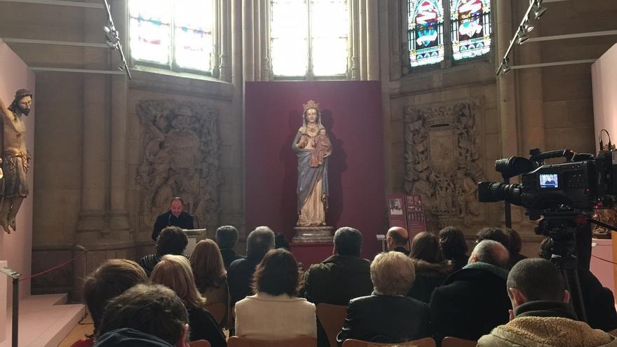 La talla original de la Virgen Blanca restaurada será conservada y expuesta en el museo de Arte Sacro de Vitoria