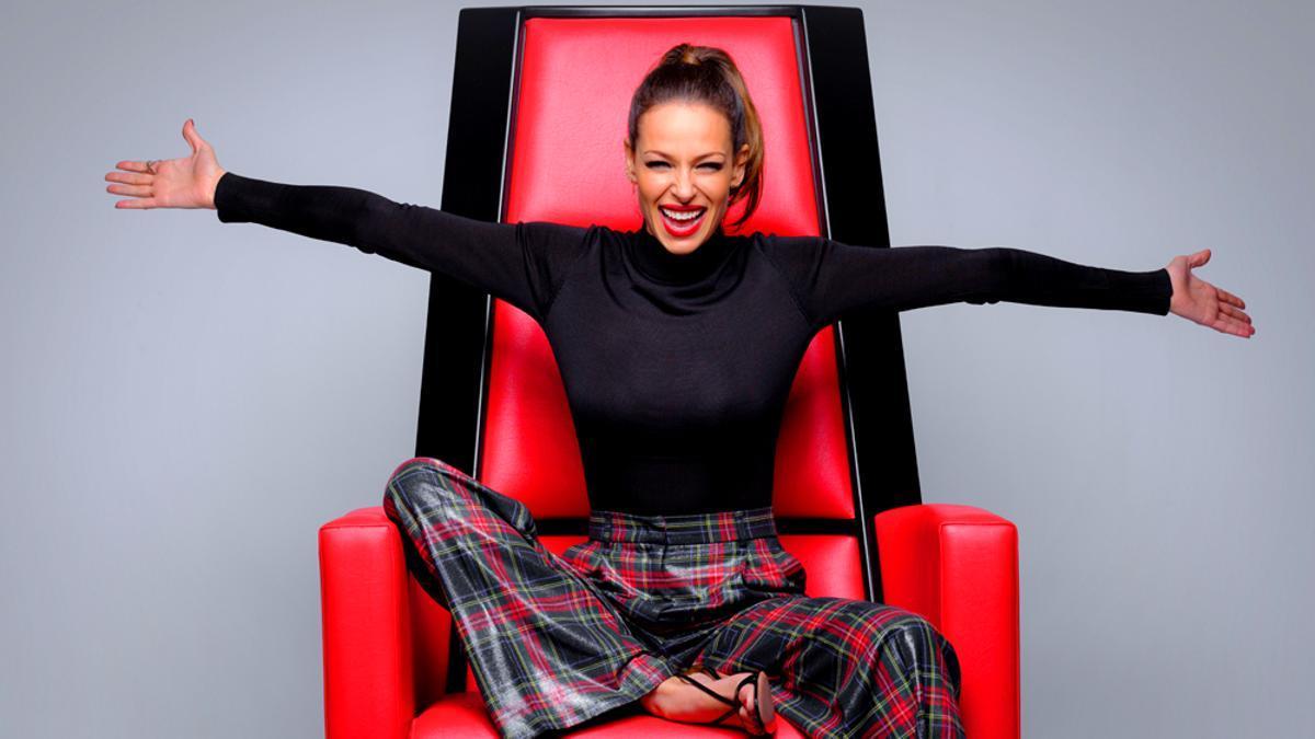 Eva González en una imagen promocional de 'La Voz'