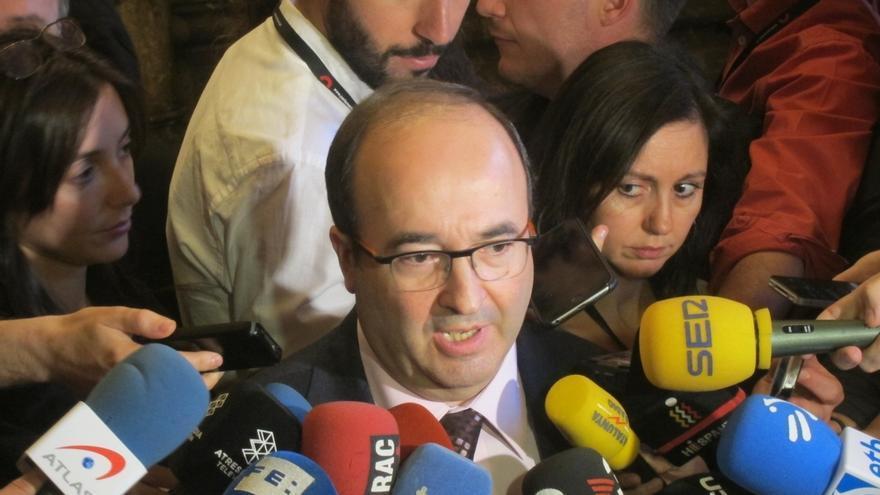 """Iceta (PSC) aprueba que Rajoy """"rectifique"""" yendo a Cataluña y le pide soluciones políticas"""
