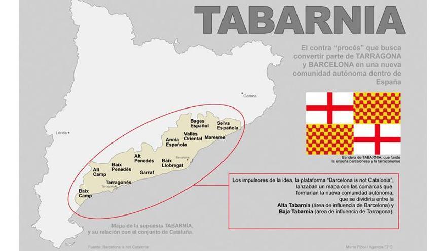 La idea de Tabarnia, con comarcas de Barcelona y Tarragona, triunfa en redes